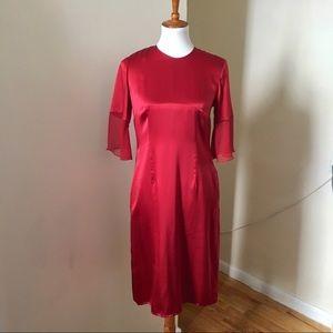 Morgane le fay Silk Charmeuse Chiffon Dress